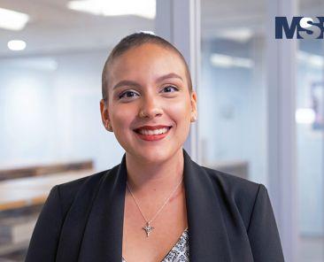Tatiana Polanco, estudiante del Recinto de Ciencias Médicas.