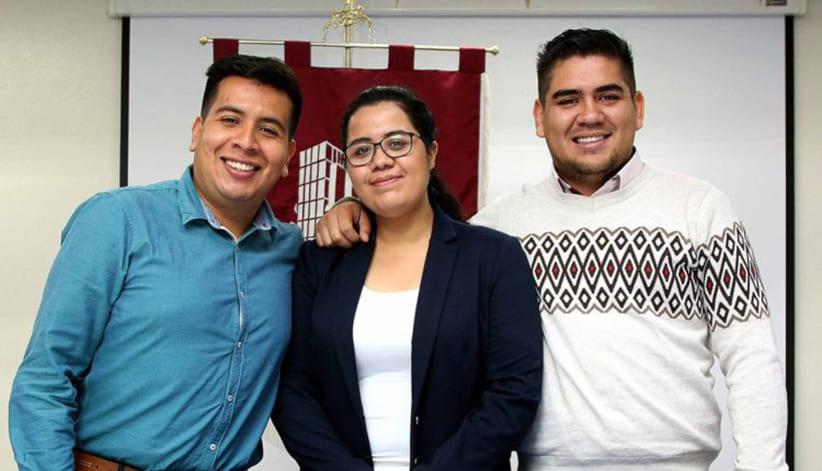 Foto del grupo de estudiantes tomada del twitter de el Instituto Politécnico Nacional de Mexico